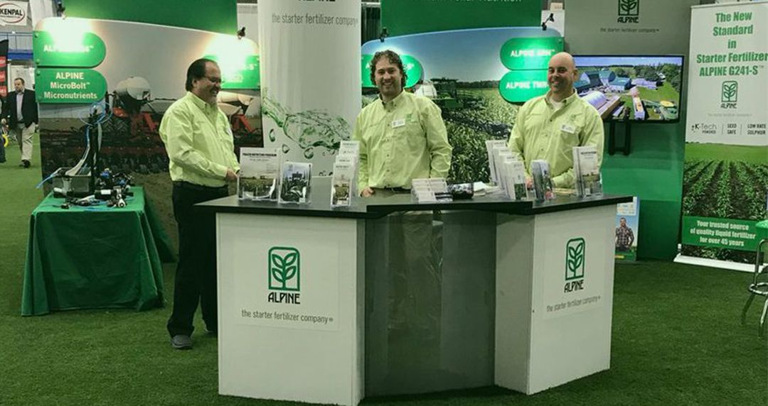 Alpine Sales representatives on the trade show at the Alpine stand